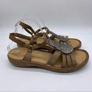 Rieker slingback Brown Comfy Sandals